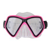 """6.25"""" Hot Pink and Black Monaco Swim Mask With Adjustable Strap for Ages 10 and up"""