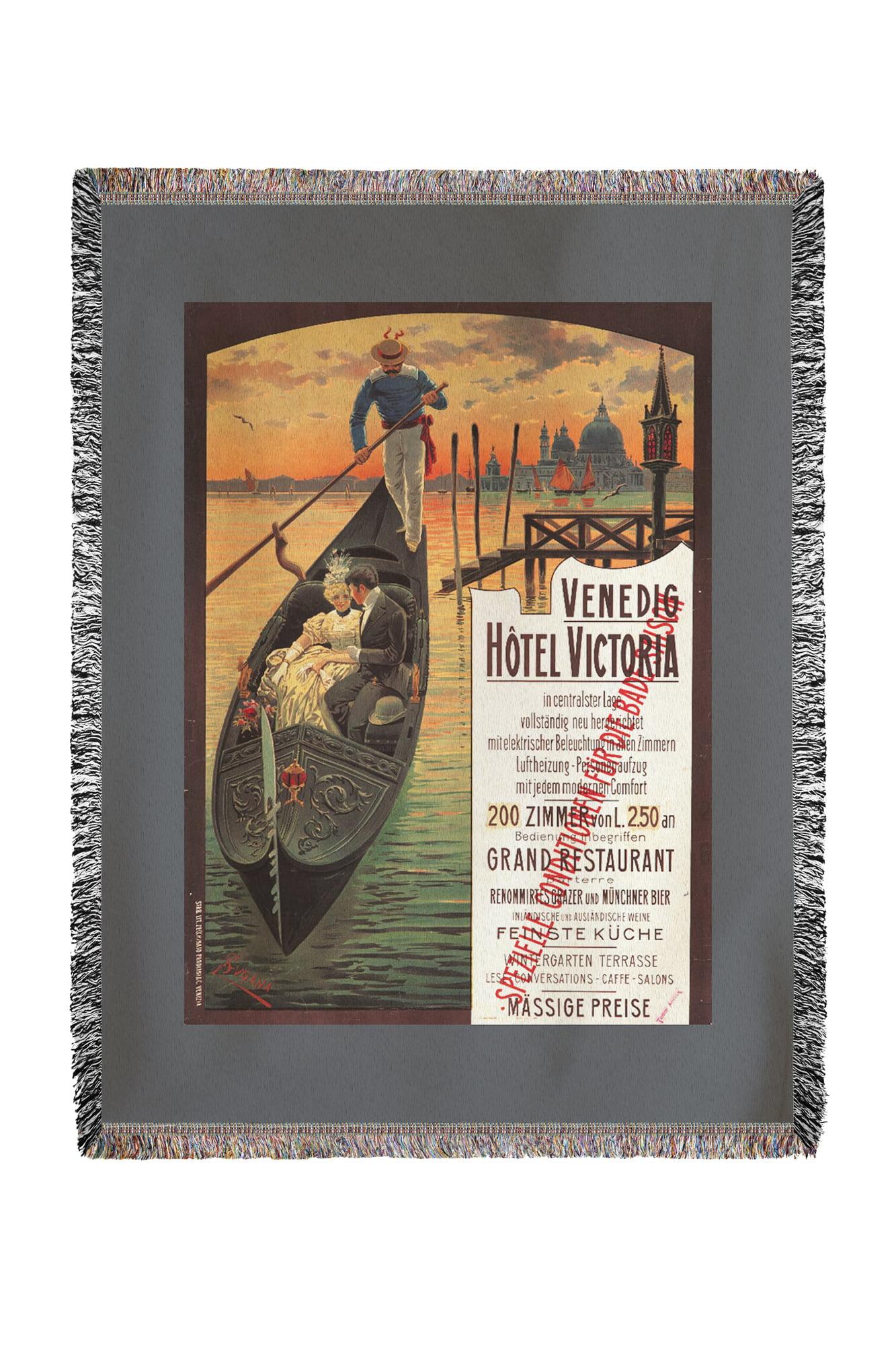 Venedig Hotel Victoria Vintage Poster Artist Lugana Suzanne