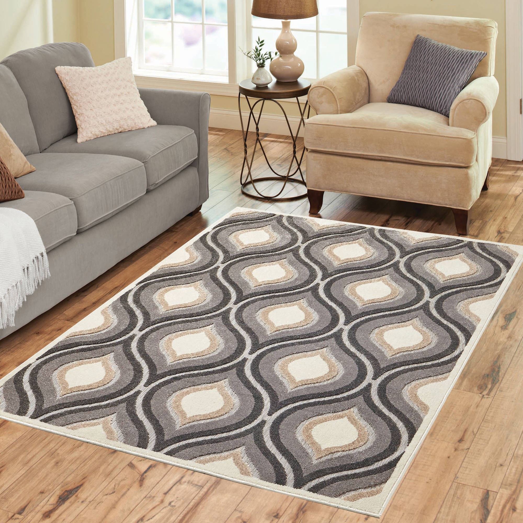 Better Homes and Gardens Gray Moroccan Area Rug