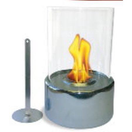 Chrome Base Glass Fireplace By Pacific Decor