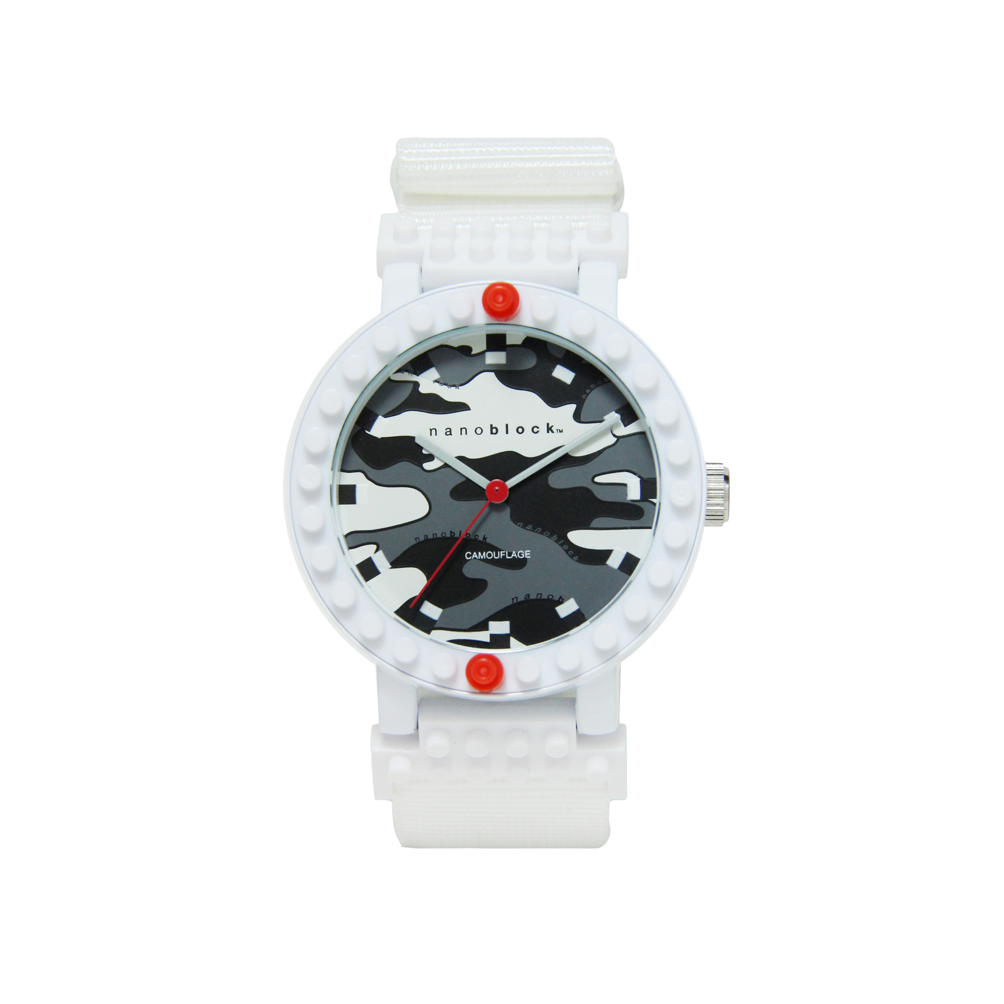 Nanoblocktime All Rounder Camo Watch, White by Beta Enteprises Inc.