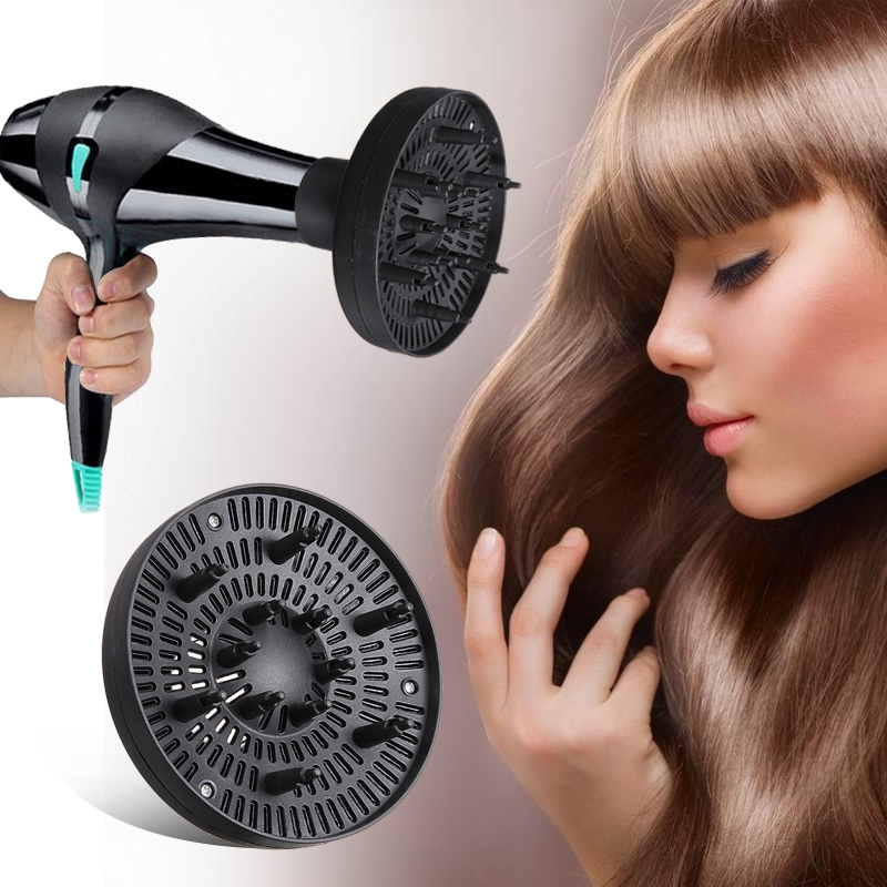 Professional Hairdressing Salon Curly Hair Dryer Diffuser Blow Blower Universal Tool Black US