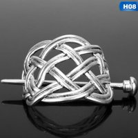 Fancyleo Norse Viking Large  Knots Crown Hairpins Hair Clips Stick Hair Barrette With Stick Slide Accessories For Women