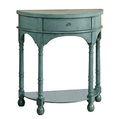 Sauder Furniture 417132 Inspired Accents Antique Teal Accent Table W  Drawer  Istilo258781