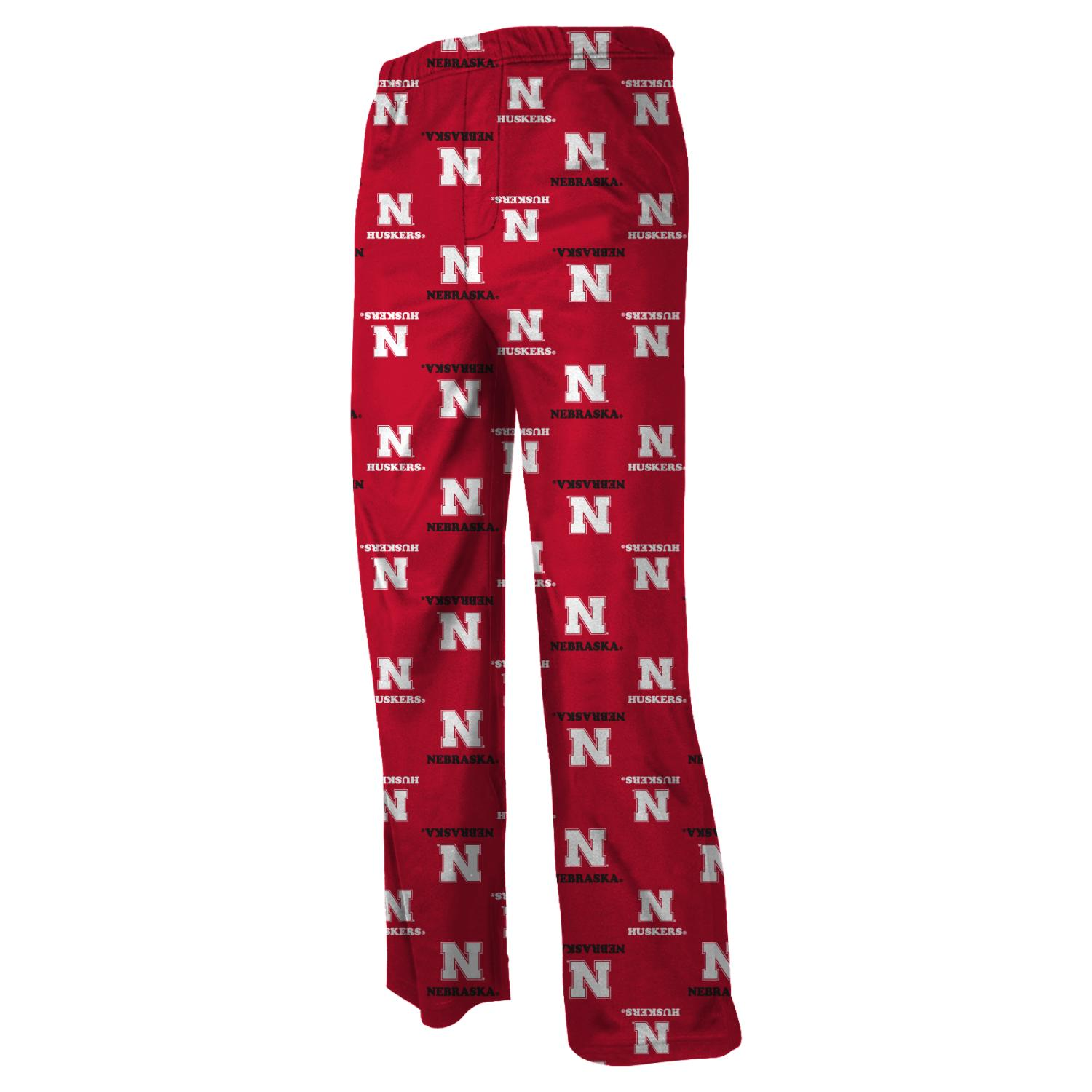 Nebraska Cornhuskers Youth NCAA Printed Logo Pajama Pants by Outerstuff