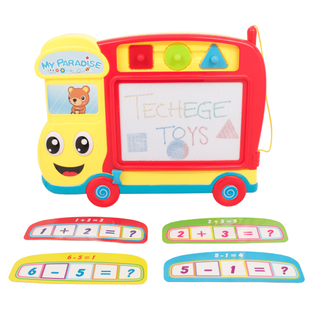 Techege Travel Size Bus Magnetic Drawing Board Sketch Doodle Educational Toys For Kids Toddlers Walmart Com Walmart Com