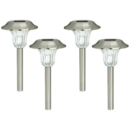 4 Pack Westinghouse Stainless Steel Solar Outdoor Garden Pathway Led Stake Light