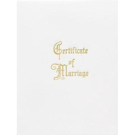 Marriage Certificate Booklet with Traditional Service - Walmart.com