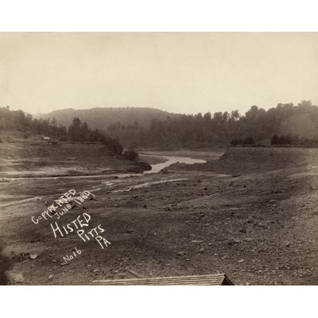 South Fork Dam - Johnstown Flood 1889 Na View Of The Broken South Fork Dam From The Bed Of Lake Conemaugh After The Johnstown Flood Photograph By Ernest Walter Histed 1889 Poster Print by Granger Collection