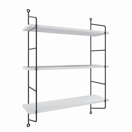 3 Tiers Rustic Floating Book Shelves Wall Mounted Storage Shelf Heavy Duty Ceaer