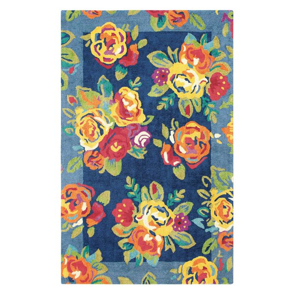 Company C Cabbage Roses Indoor Area Rug
