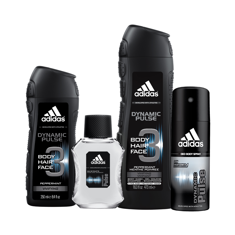 Adidas dynamic pulse home gym body wash body spray & cologne gift