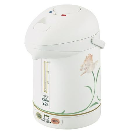 Zojirushi CW-PZC22FC Micom Super Boiler, 2.2 Liter White Ballerina
