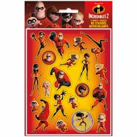(2 Pack) The Incredibles Sticker Sheets, 4ct