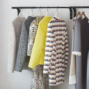 Clothes Bar, Adjustable Width Multi Purpose Wall Hanging Closet Organizer Rack Display, Durable Steel Material
