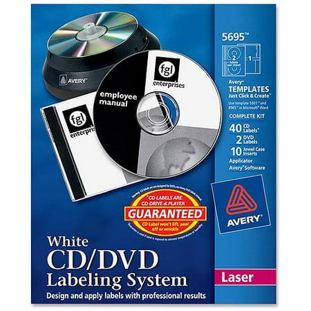 Avery Matte White Film Dvd Labeling Systems Walmart