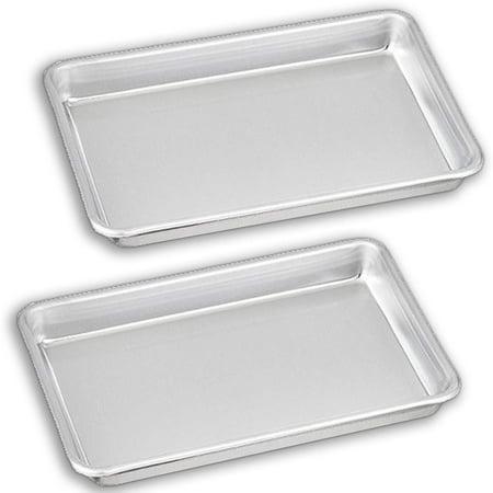 Bakeware Set – 2 Aluminum Sheet Pan – 1/8 Size (6.5