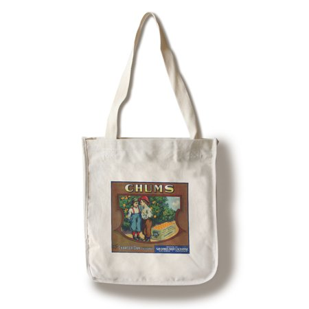 Charter Oak, California - Chums Brand Citrus Label (100% Cotton Tote Bag - Reusable)