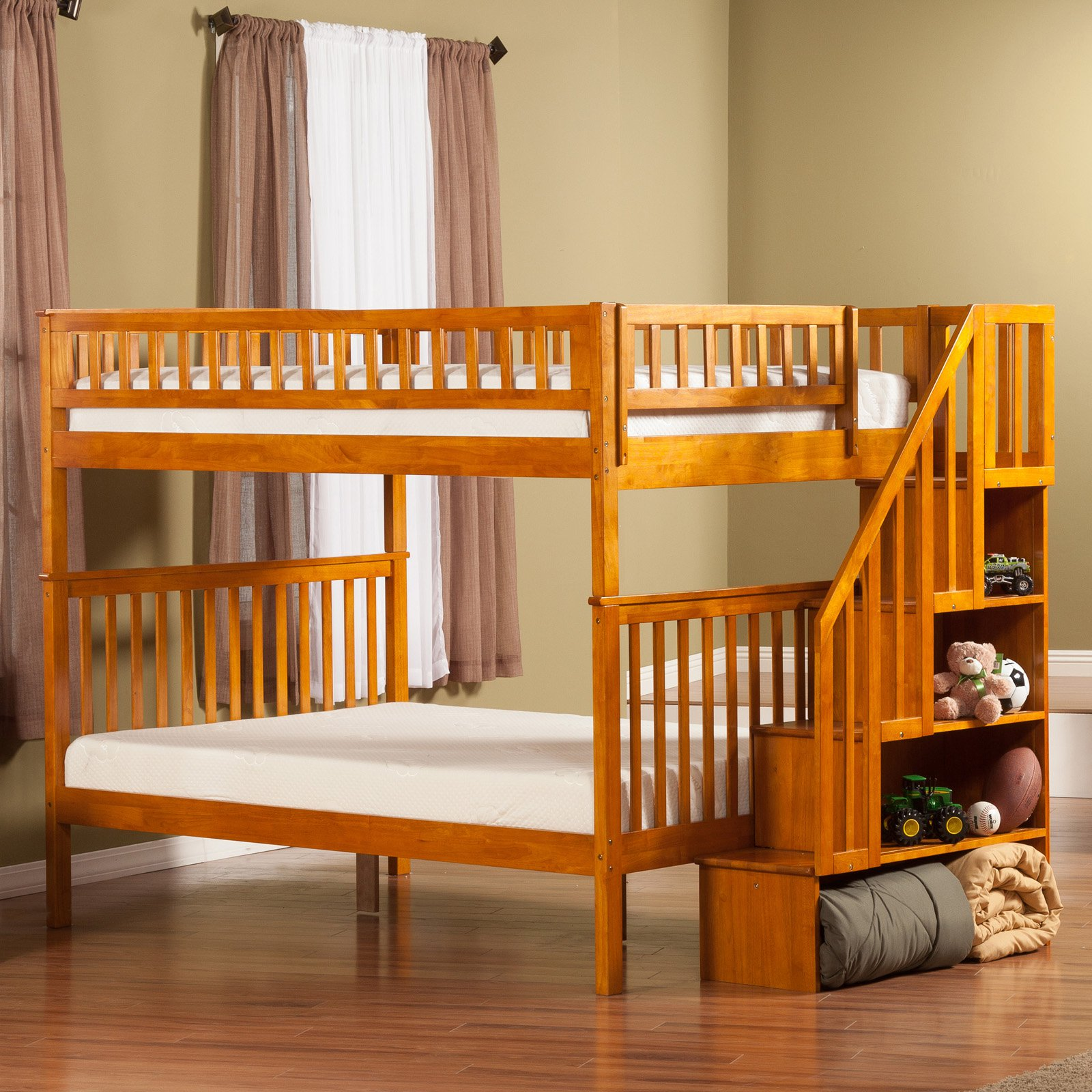 Woodland Full Over Staircase Bunk Bed