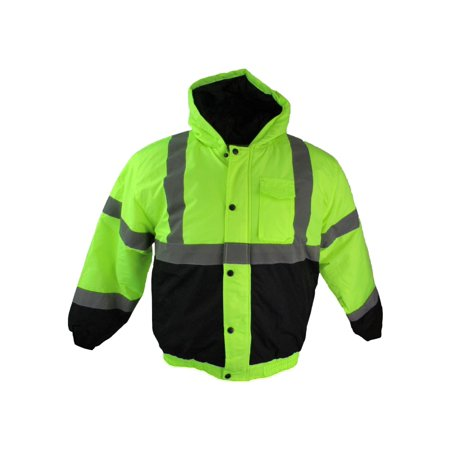buffalo outdoors men's safety hi-vis full zip winter - Road Safety Jacket