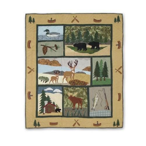 """Patch Magic Lodge Fever Throw 50""""X 60"""""""