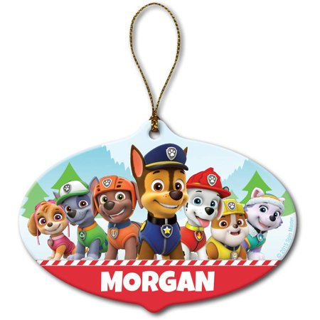 Personalized Christmas Ornament - Paw Patrol Holiday Pups - Walmart.com