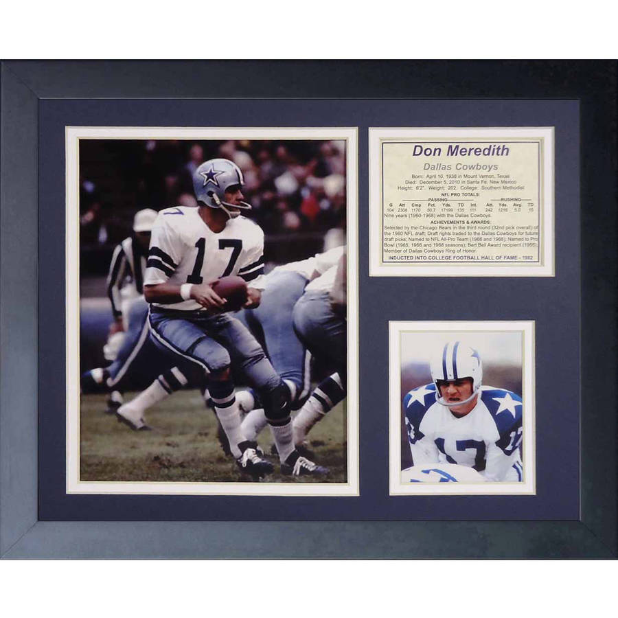 """Legends Never Die """"Don Meredith"""" Framed Photo Collage, 11"""" x 14"""""""