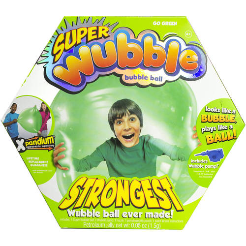 Green Super Wubble Ball with Pump