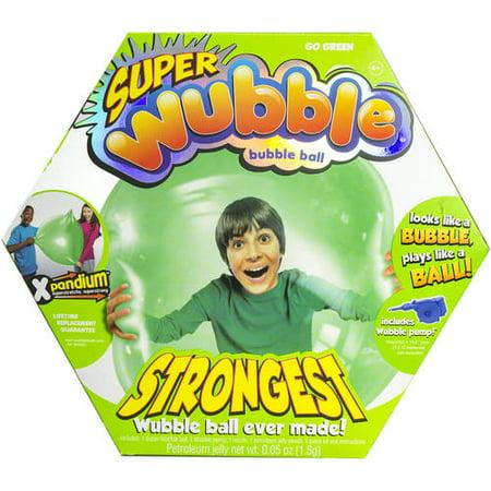 Green Super Wubble Ball with Pump