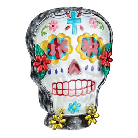 Day of Dead Man Male Sugar Skull Halloween Electric Night Lamp Tabletop](Electric Chair Halloween Animatronic)