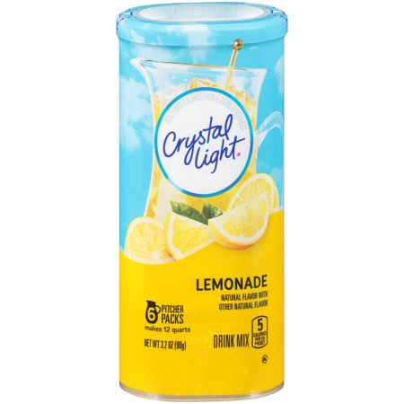 Crystal Light Lemonade Drink Mix 6 ct Canister - Halloween Alcoholic Drink Mixes