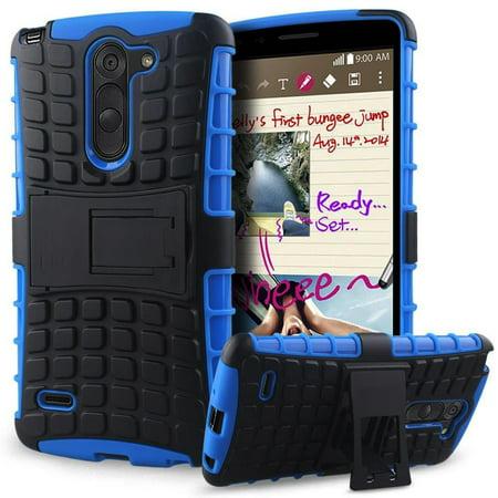 LG G3 Stylus / D690 TPU Slim Rugged Hybrid Stand Case Cover