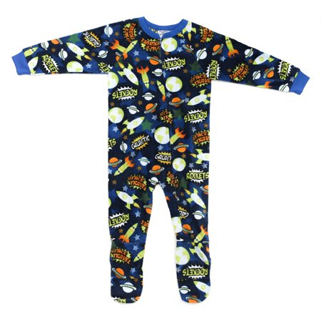 c9f6e282ab Prince of Sleep - Prince of Sleep Footed Pajamas   Micro Fleece Blanket  Sleepers (Rocket