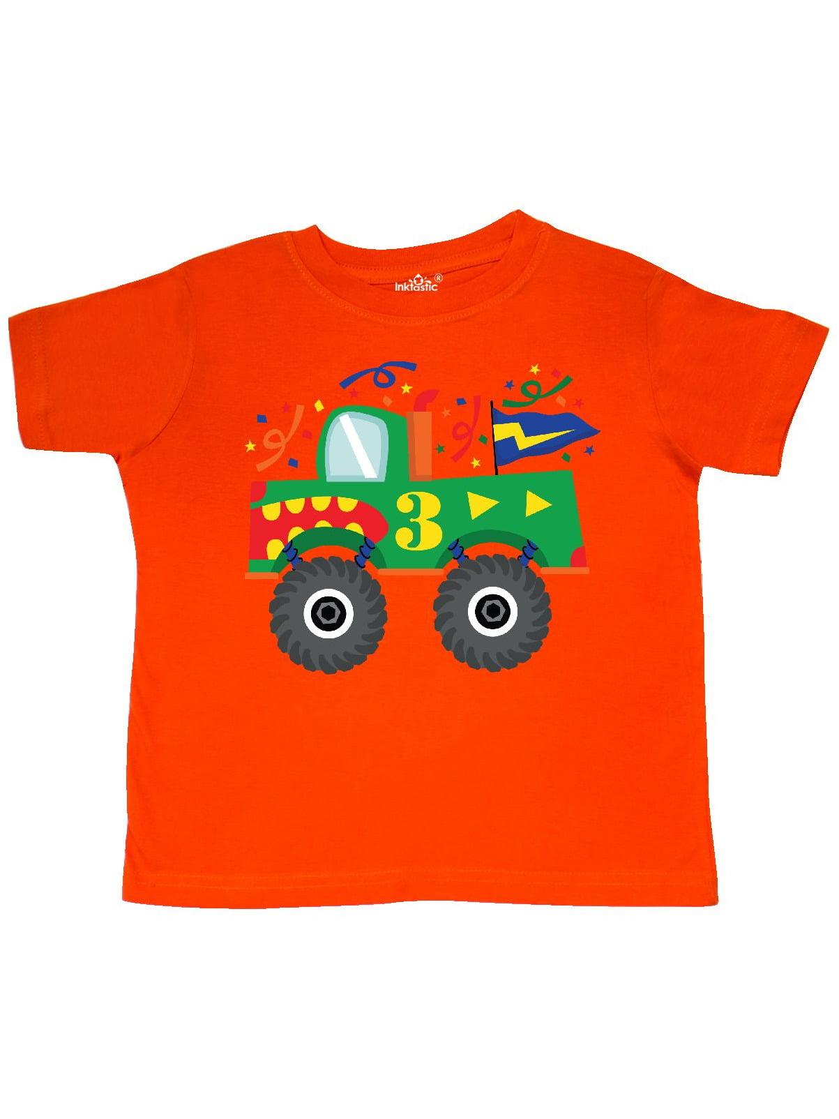 3rd Birthday Monster Truck Toddler T-Shirt