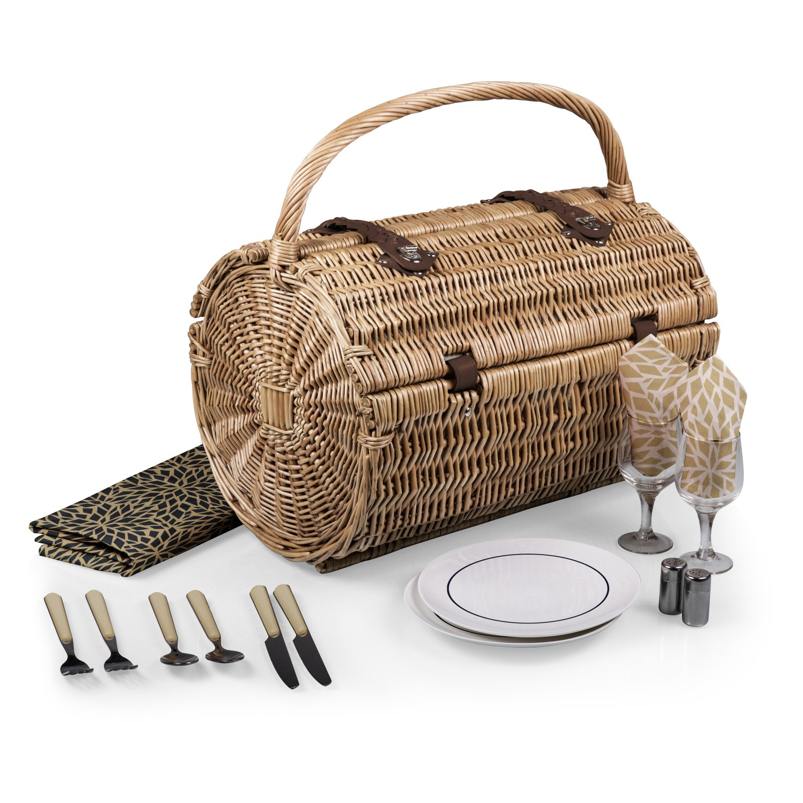 Picnic Time Watermelon Barrel Picnic Basket by Overstock