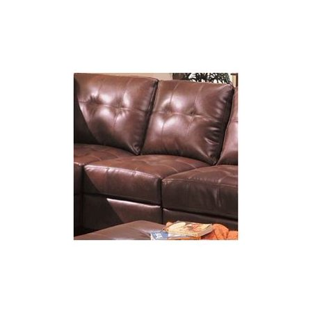 Samuel Leather Armless Chair Brown