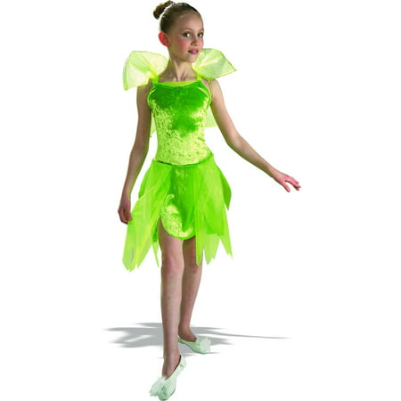 Girls Tinkerbell Fairy Pixie Costume (Tinkerbell Halloween Costume Child)