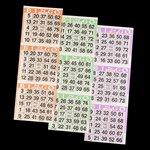 Bingo Paper Cards - 3 cards - 3 sheets - 100 books](Halloween Bingo Sheets To Print)