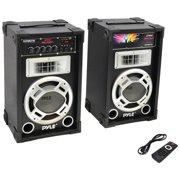 Pyle Pro 800-watt Disco Jam Powered Active/passive Pa Dual Speaker System