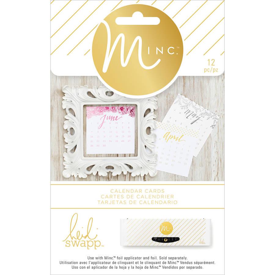 Minc Calendar Cards 12/pkg-
