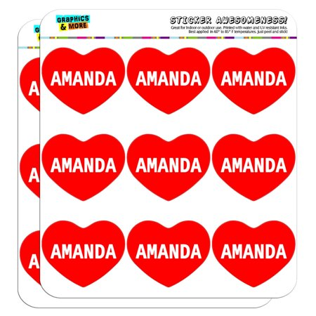 Amanda Sticker (I Love Heart - Female Names - Amanda - 2