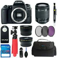 Canon EOS 77D DSLR Camera + Canon 18-55mm STM Lens + Pixi Basic Bundle Kit