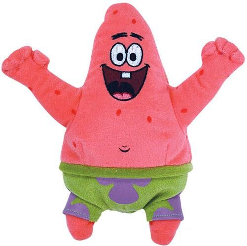 Patrick Starfish Best Day Ever Beanie Baby Spongebob Stuffed Animal Ty (40467)