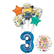Despicable Me 3 Minions 3rd Birthday Party Supplies and balloon Decorations