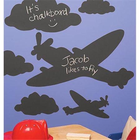 Wallies Wallcoverings 16012 Peel & Stick Chalkboard Mural Ardoises et nuages - image 1 de 1