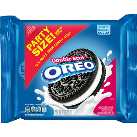 Nabisco Oreo Double Stuf Sandwich Cookies Party Size, 26.7 Oz. - Premade Halloween Cookies