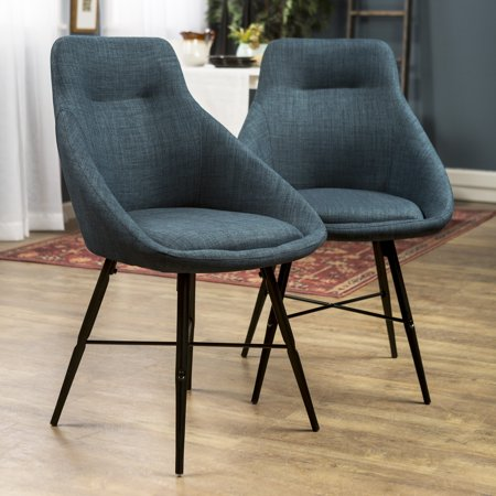 Manor Park Mid Century Modern Dining Chair, Set of 2 - Blue (Multiple Colors - Park Ave Dining