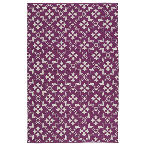 Kaleen Brisa Purple/Cream Indoor/Outdoor Area Rug