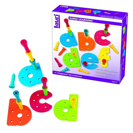 Lauri Tall-Stackers - Pegs a-z Pegboard Set (Lowercase), Playing with these large letter-shaped pegboards provides kids with a fun way to learn letter recognition.., By PlayMonster