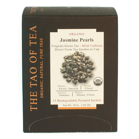 The Tao of Tea, Organic Jasmine Pearl Tea, Tea Bags, 15 Ct (Dragon Pearl Jasmine Tea)